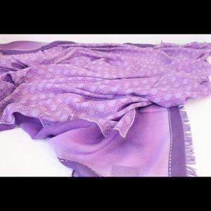 Purple Gucci Scarf